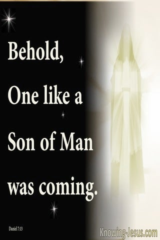 Daniel 7:13 One Like A Son Of Man (white)
