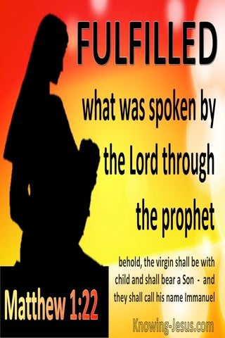 Matthew 1:22 To Fulfill What Was Spokne By The Lord Through Prophets (red)