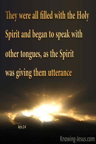 Acts 2:4 Filled With The Holy Spirit And Speaking In Tongues (brown)