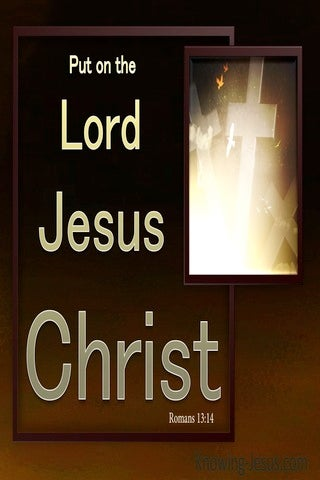 Romans 13:4 Put On The Lord Jesus Christ (gold)