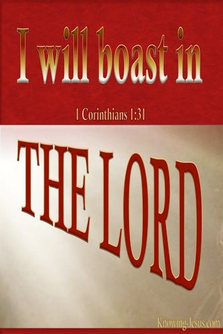 1 Corinthians 1:31 Let Him Boast In The Lord (red)