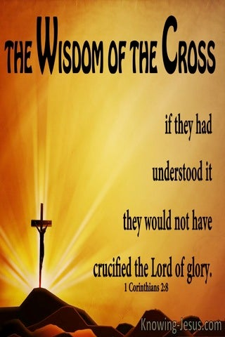 1 Corinthians 2:8  The Wisdom Of The Cross (yellow)