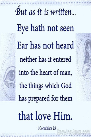 1 Corinthians 2:9 Eye Has Not Seen, Ear Has Not Heard (blue)