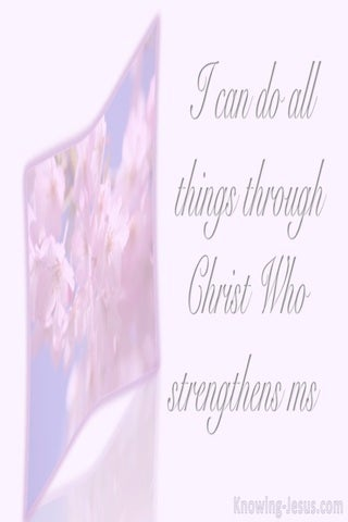 Philippians 4:13 All Things Through Christ Who Strengthens Me (pink)