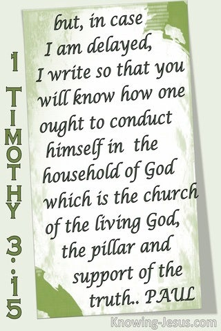 1 Timothy 3:15 The Household OF God Is The Church (green)
