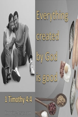 1 Timothy 4:4 All God Created Is Good (gray)