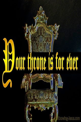 Hebrews 1:8 Your Throne O God Is Established In Heaven (yellow)