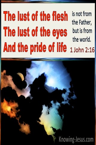 1 John  2-16 The Lust Of The Flesh, The Lust Of The Eye The Pride Of Life (red)