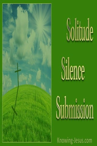 Solitude, Silence, Submission (devotional) (green)