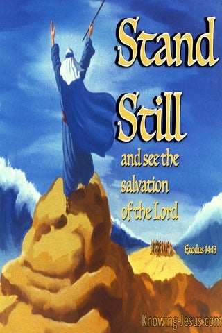 Exodus 14:13 Stand Still (devotional)03:13 (blue)