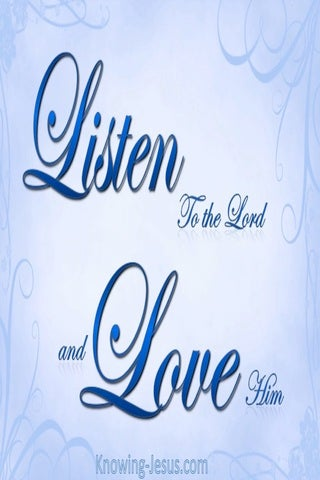 Listen and Love (devotional) (blue)