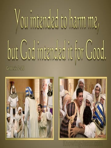 Genesis 50:20 God Intended It For Good (gold)