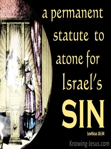 Leviticus 16:34 A Permanent Statue To Atone For Sin (yellow)