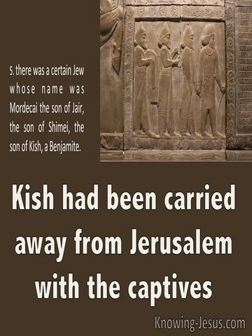 Esther 2:6 Kish Had Been Carried Away Into Exile 2:6 (brown)