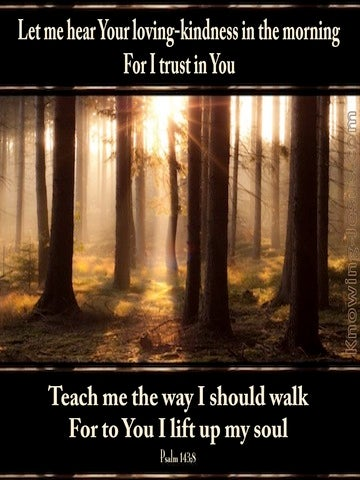 Psalm 143:8 Teach Me The Way I Should Walk (gold)