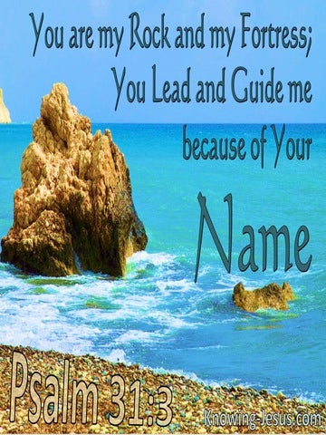 Psalm 31:3 Your Are My Rock And Fortress (blue)