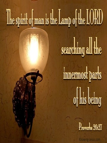 Proverbs 20:27 The Spirit Of Man Is A Lamp Of The Lord (brown)