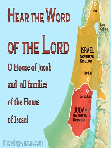 Jeremiah 2:4 Hear The Word Of The Lord Jacob And Israel (blue)