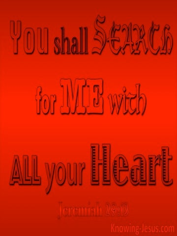 Jeremiah 29:13 You Shall Seek Me And Find Me (red)