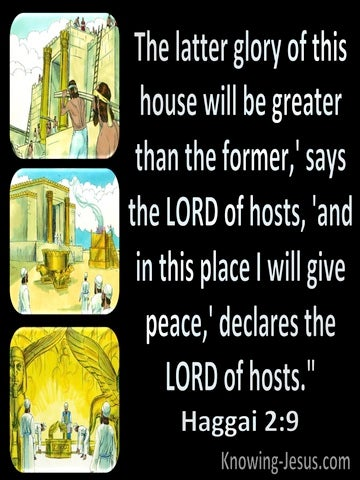 Haggai 2:9 The Glory Of The Latter Temple (black)