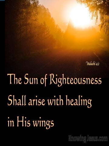 Malachi 4:2 The Sun Of Righteousness Shall Arise (orange)