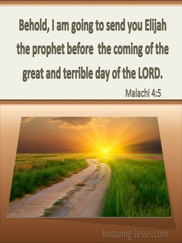 Malachi 4:5 Malachi 4:5 Elijah Will Come Before The Terrible Day Of The Lord  (beige)