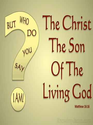 Matthew 16:16 You Are The Christ (red)