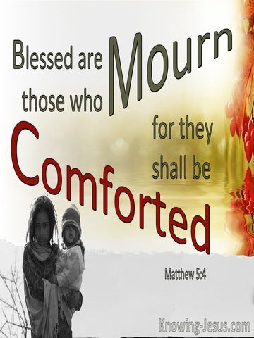 Matthew 5:4 Blessed Are Those Who Mourne (red)
