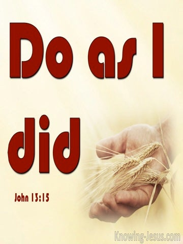 John 13:15 Do As I Did (red)