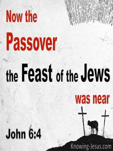 John 6:4 The Feast Of The Jews : The Passover Was Near (red)