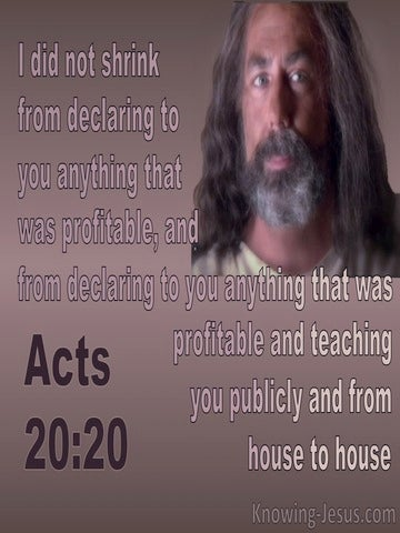 Acts  20-20 Paul Declared What Was Profitable (brown)