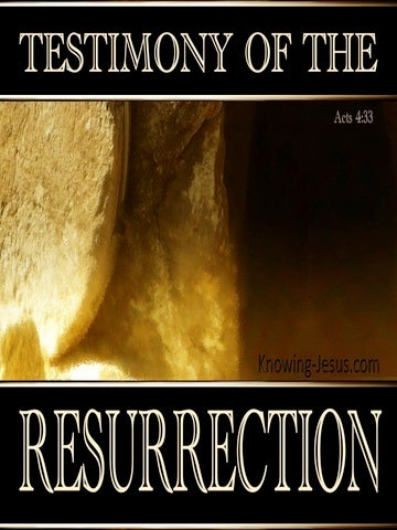 Acts 4:33 Testimony Of The Resurrection (black)