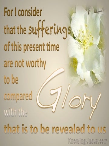 Romans 8:18 Suffering And Glory (beige)