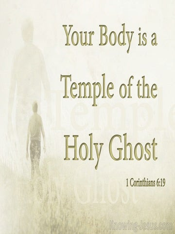 1 Corinthians 6:19 Your Body Is A Sanctuary Of The Holy Spirit (beige)