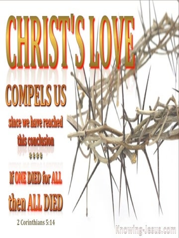 2 Corinthians 5:14 Love of Christ Compels Us (white)