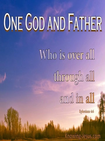Ephesians 4:6 One God And Father (purple)