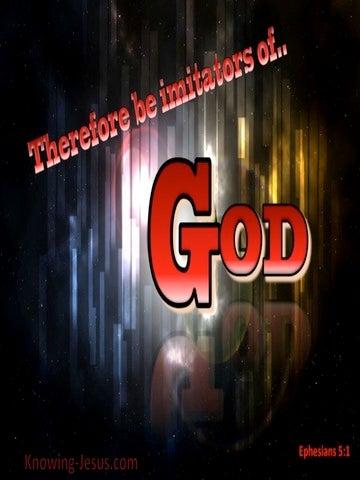Ephesians 5:1 Be Imitators of God (red)