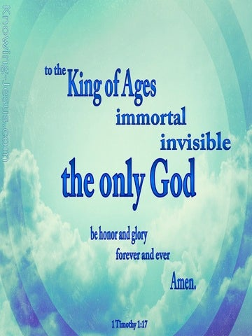 1 Timothy 1:17 King Of The Ages (aqua)