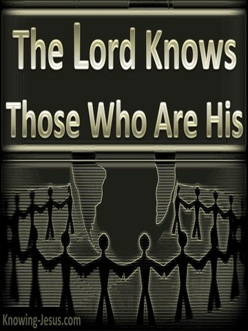 2 Timothy 2:19 The Lord Knows Those Who Are His (silver)