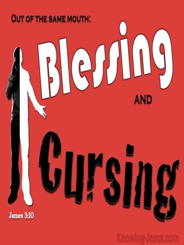 James 3:10 Blessings And Cursings (red)