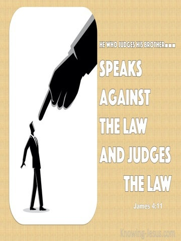 James 4:11 Do Not Speak Against One Another (beige)