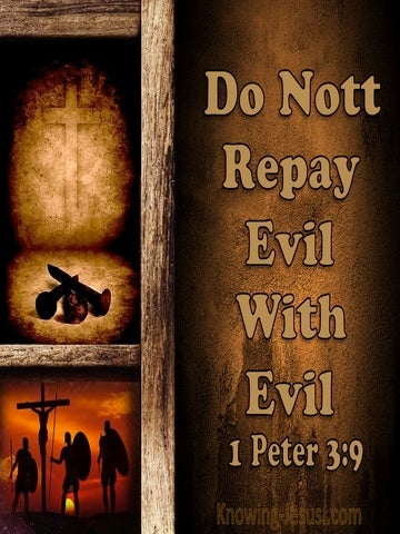 1 Peter 3:9 Repay Evil With Good (beige)