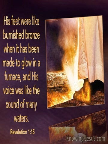 Revelation 1:15 His Feet Were Like Burnished Bronze (purple)