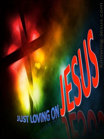 Just Loving On Jesus (devotional) (red)