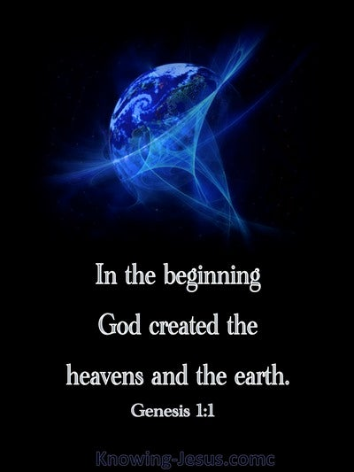 Genesis 1:1 In The Beginning God Created (blue)