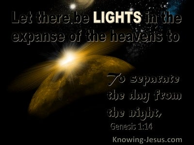 Genesis 1:14 Lights For Signs, Seasons, Days And Years (black)