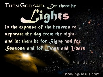 Genesis 1:14 Lights For Signs, Seasons, Days And Years (pink)