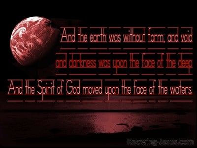 Genesis 1:2 The Earth Was Without Form And Void (red)