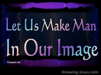 Genesis 1:26 Let Us Make Man In Our Image (black)