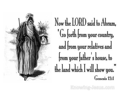 Genesis 12:1 Leave Your Country And Relatives (white)